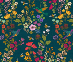 Hummingbirds and Bees {Forest}