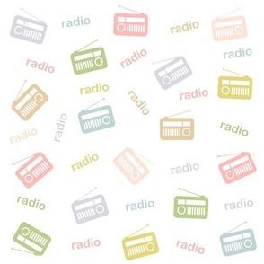 Soft colored radio pattern for world radio day
