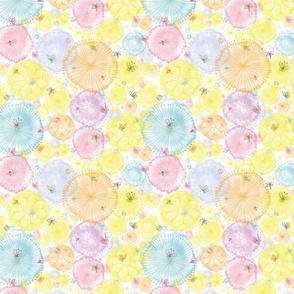 Polinater watercolor floral