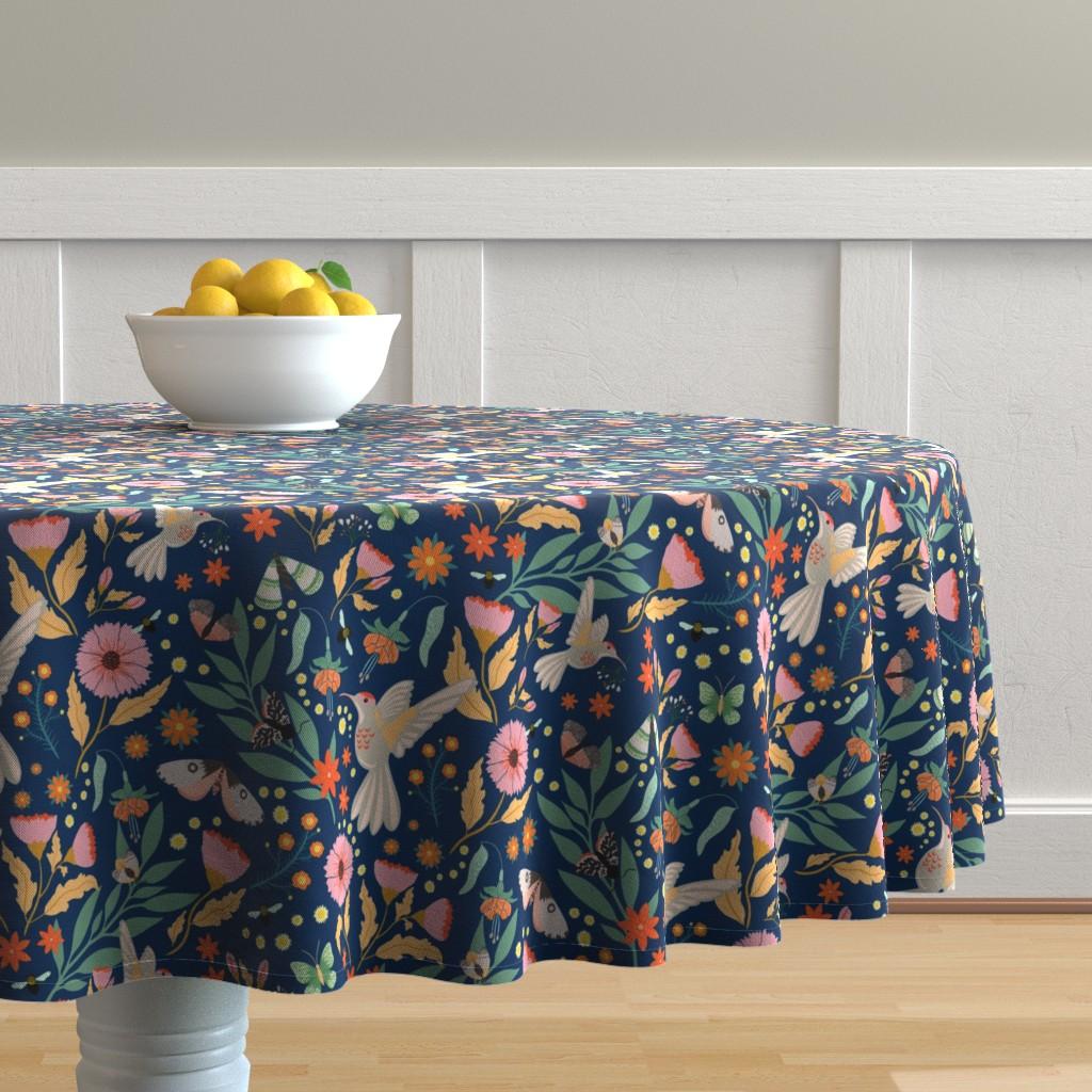 Malay Round Tablecloth featuring Honey Suckers by aliz_arteta