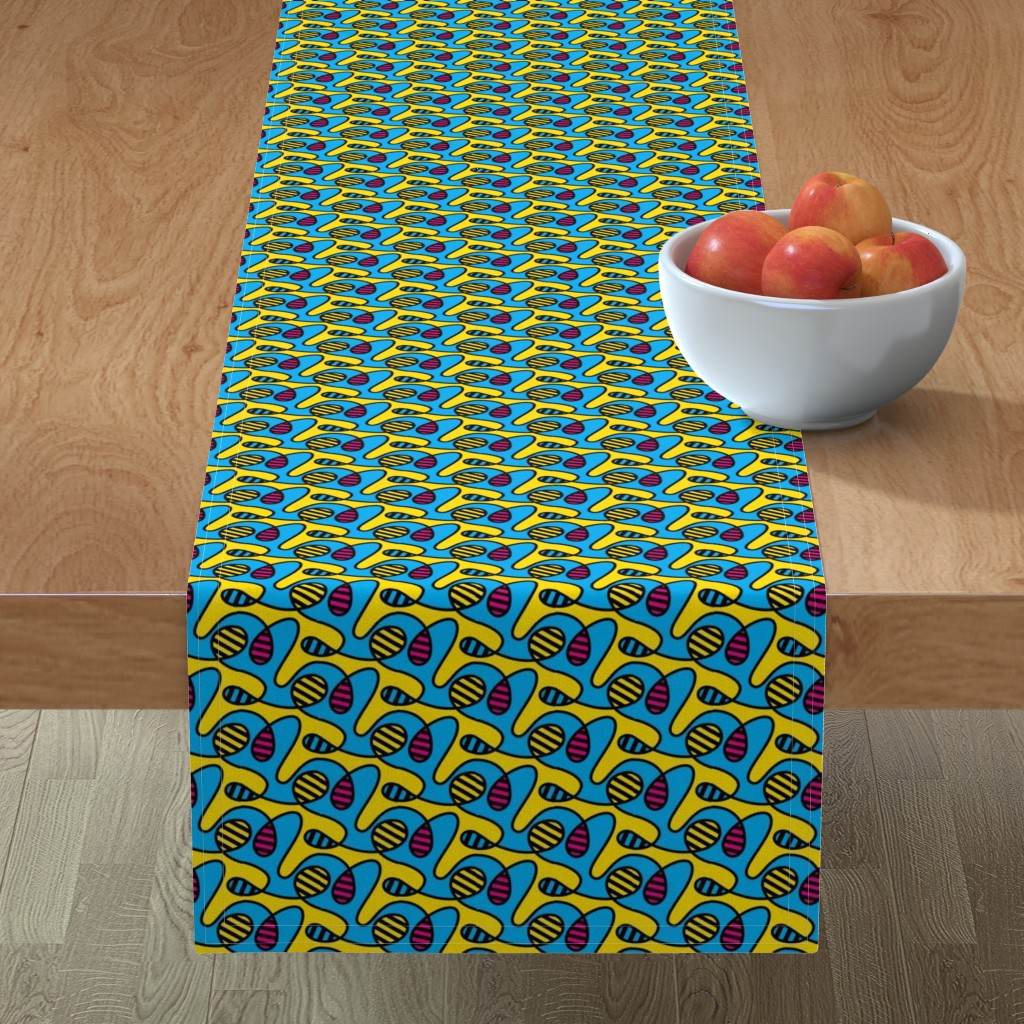 Minorca Table Runner featuring CMYBees by autumn_musick