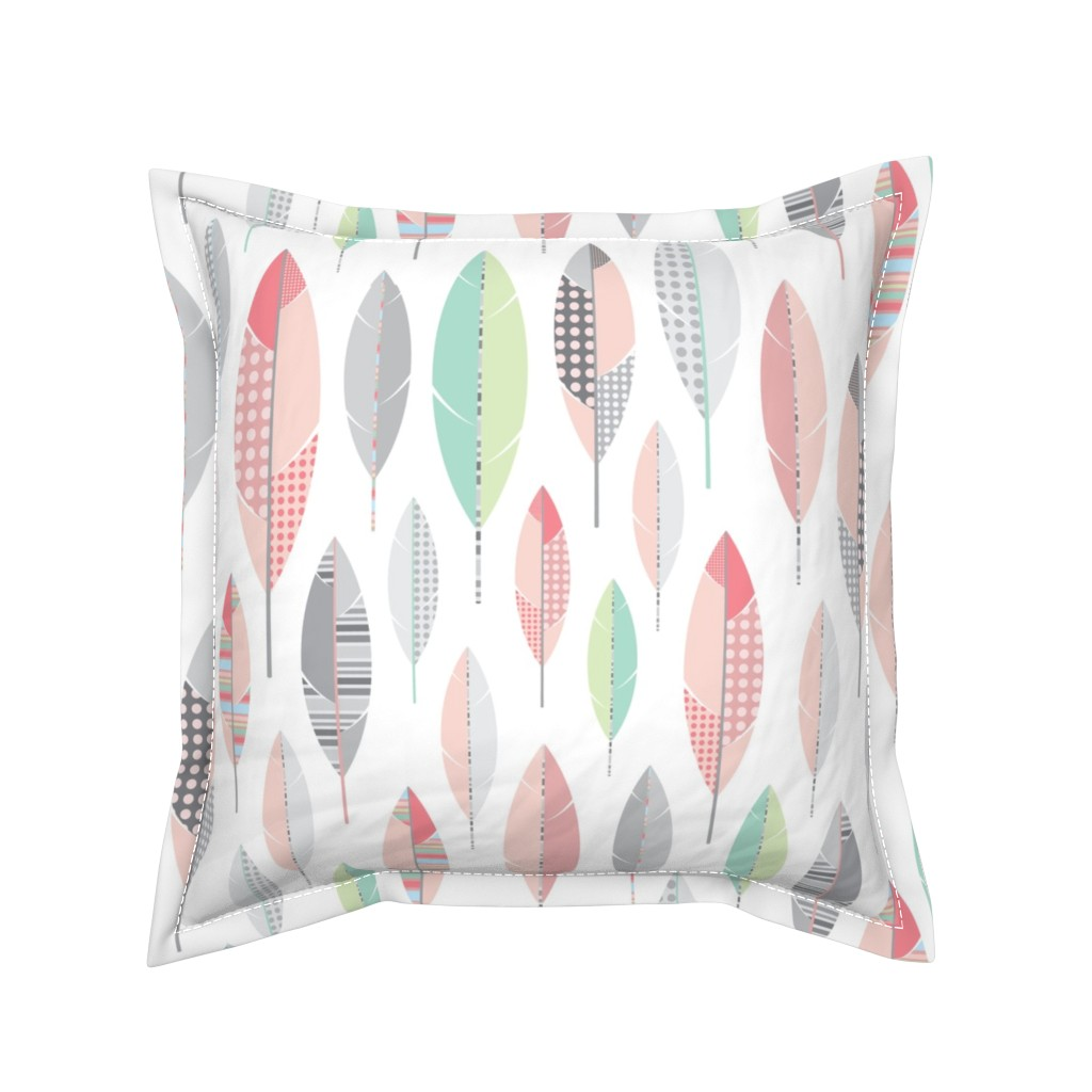 Serama Throw Pillow featuring Finding Feathers-White by twigged