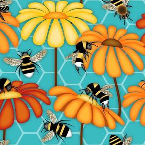 Pollinators - Honeybees, Bumblebees and Honeycombs