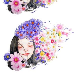 quiet flowers girl