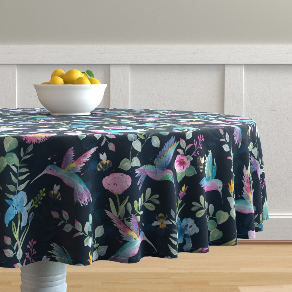 Malay Round Tablecloth featuring Cindy-Lee by gingerlique