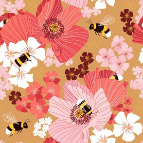 Bumblebees and pollen