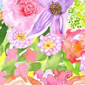 19-07p Jumbo Spring Rainbow Floral