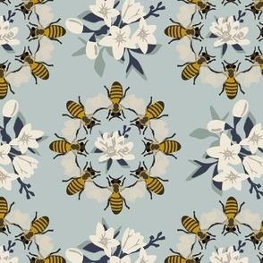 Bee Medallion - Blue
