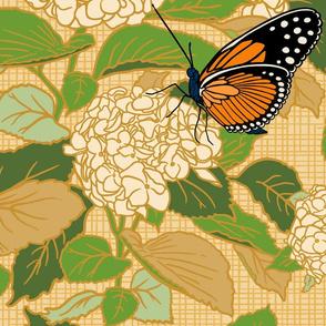 Butterflies on Hydrangeas              large scale