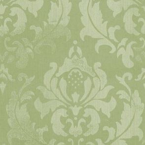 damask vert grand