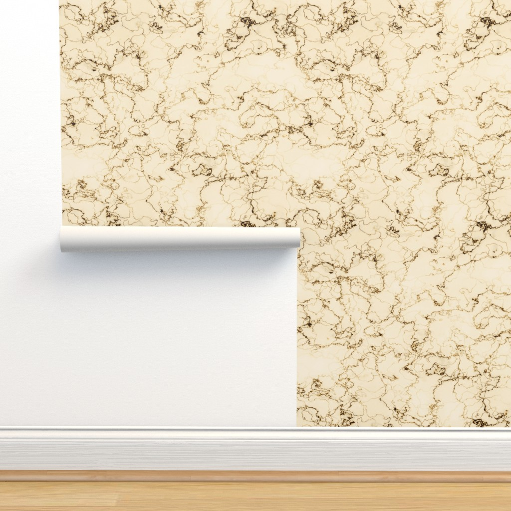 Isobar Durable Wallpaper featuring rococo marbre d'or by whatever-works