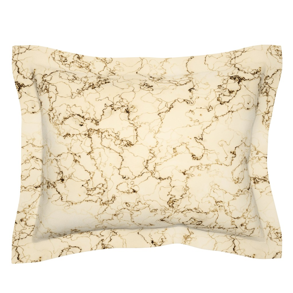 Sebright Pillow Sham featuring rococo marbre d'or by whatever-works