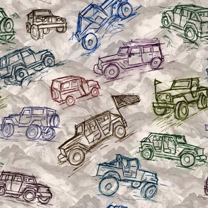 Jeep 4x4 vehicles  4 color