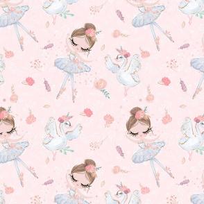 Ballerina Swan Glitter Fabric