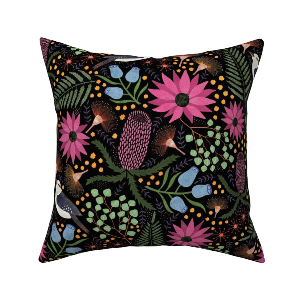 Catalan Throw Pillow featuring Australian Flora by suzytaylordesigns