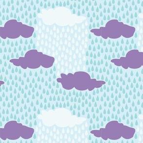 April Showers - Purple and Blue