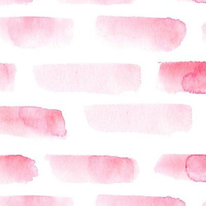 Watercolor peony pink brush strokes || painted abstract pattern for baby girl