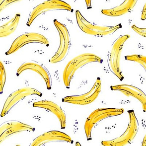 A Bunch of Bananas Watercolor Pattern