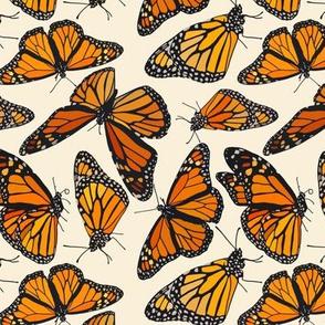 "Monarchs on cream 6"""