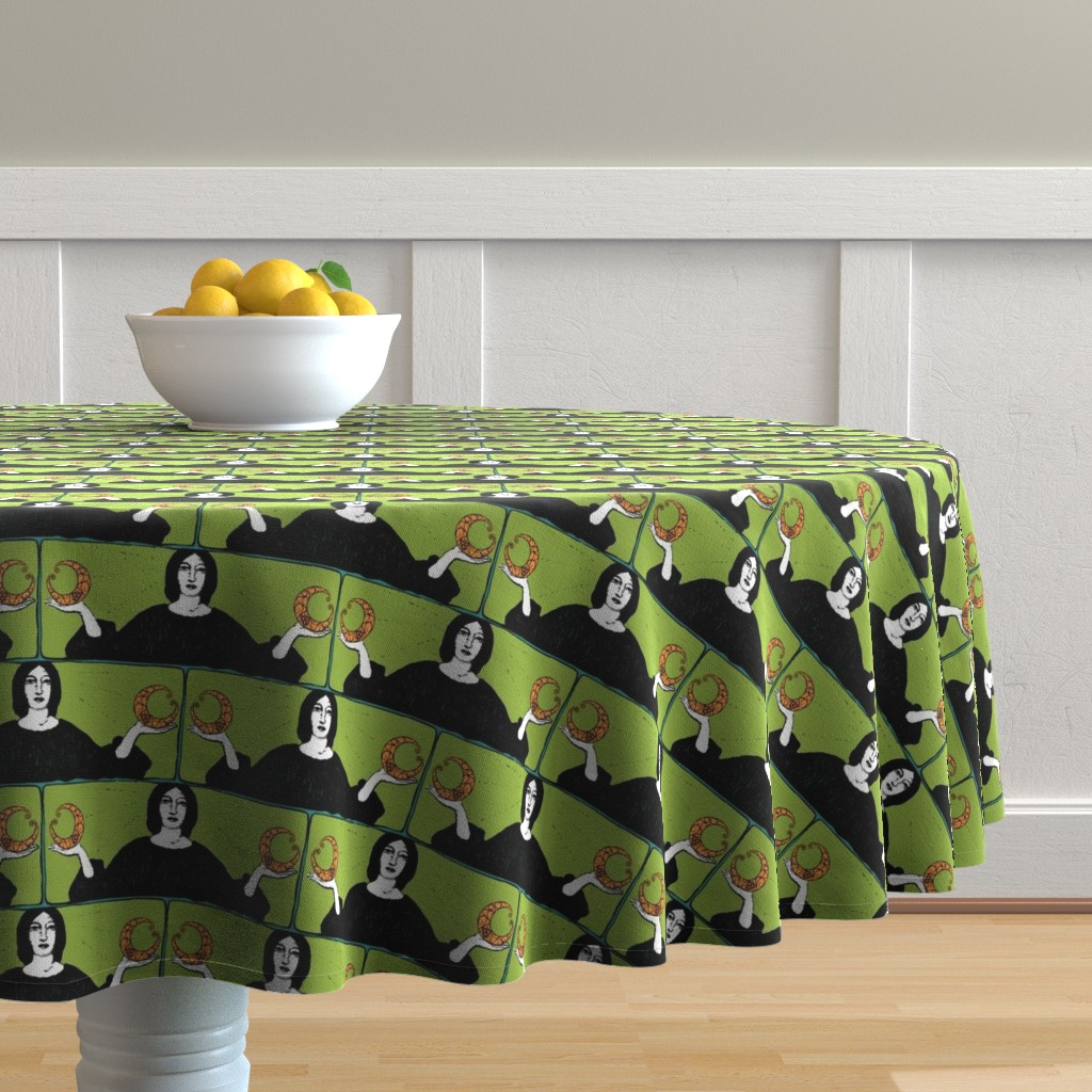 Malay Round Tablecloth featuring There is a Balance   Backlit Brights by lochnestfarm