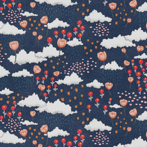 April Showers, May flowers - navy