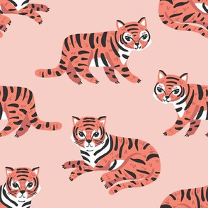 jungle tigers // blush and coral