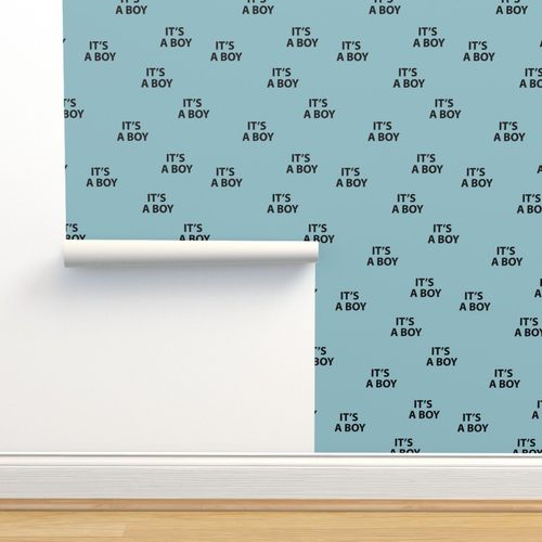 Wallpaper Sweet Its A Boy Minimal Baby Shower Text Design Abstract Typography Print With Expressions From The Heart Blue Black Boys