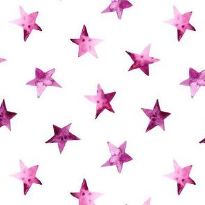 Plum stars • watercolor starry pattern for baby girl's nursery