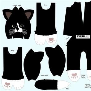 Minky Tuxedo  kitty cat