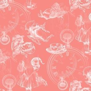 Alice in Wonderland Tea Party Coral