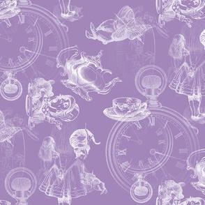 Alice in Wonderland Tea Party lavender dusky