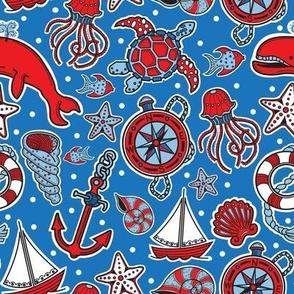 Sailing The Open Sea- blue