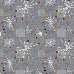 Mid Century Modern Stars Clocks gray