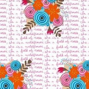wildflower word background