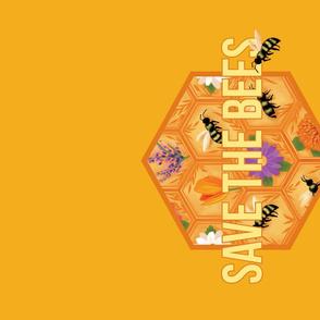 Save the Bees tea towel