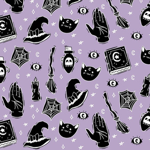Large Scale Witchy on Purple