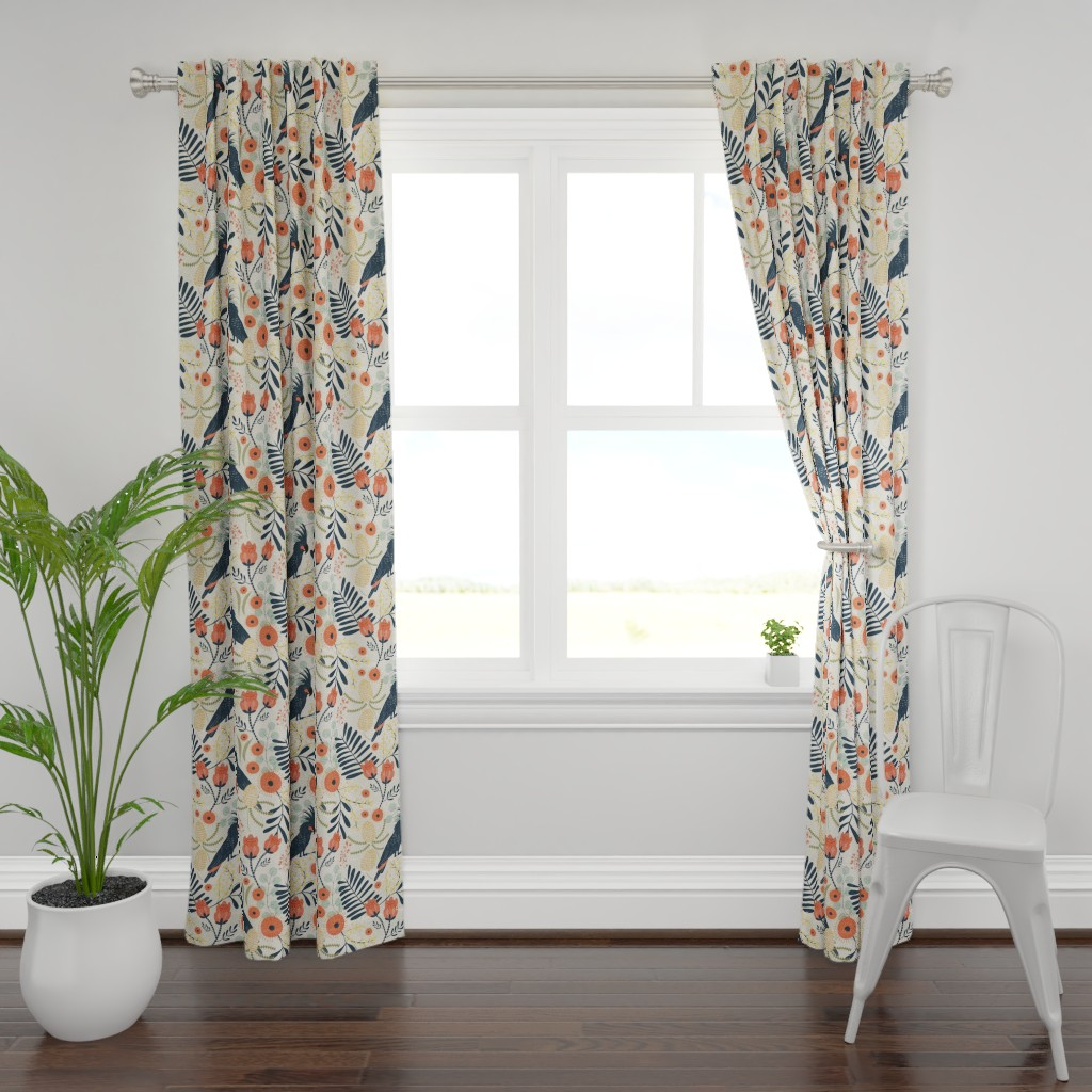 Plymouth Curtain Panel featuring Native Australia by melarmstrong