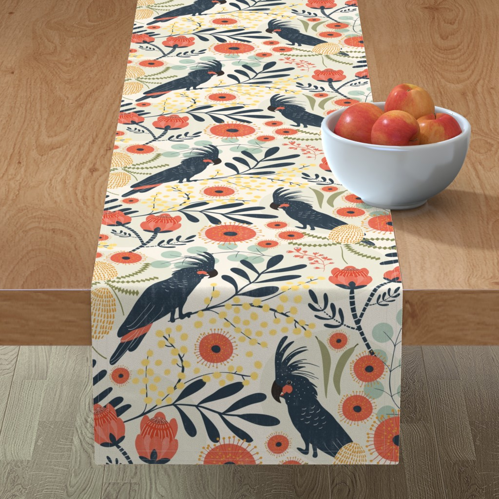Minorca Table Runner featuring Native Australia by melarmstrong