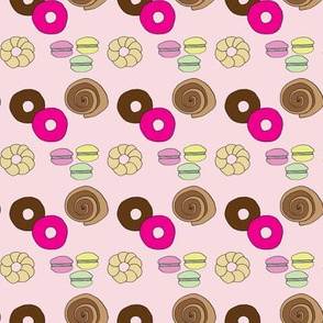 Donuts, Pastries, Macarons - Small Scale pattern