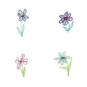 """Flower Doodles 16"""" Napkin"""