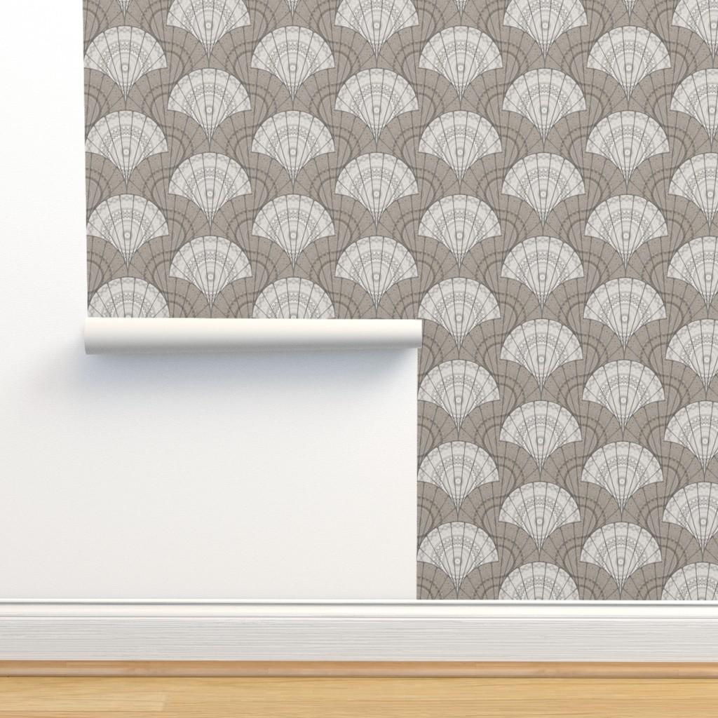 Isobar Durable Wallpaper featuring Medallion - birch flip by ormolu