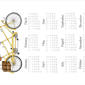 2021 Tandem Calendar - Yellow