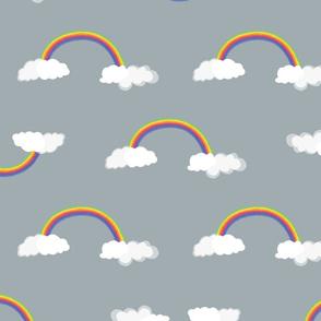Rainbow pattern 3-50x50cm-grey-RGB