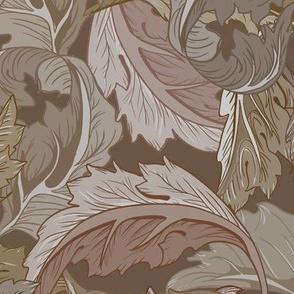 William Morris Leaves in Taupe