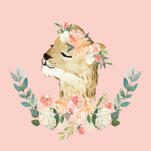 lion with a floral crown 6 loveys