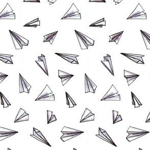 Paper Airplanes Grey