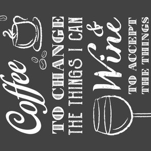 Give Me Coffee, Give Me Wine - Gray (large)