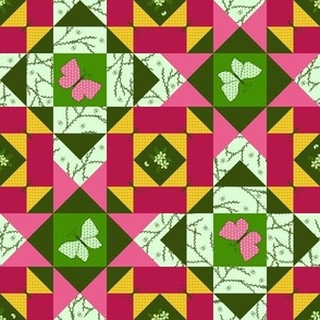Sweet Cherry Butterfly Storm Quilt (#1)
