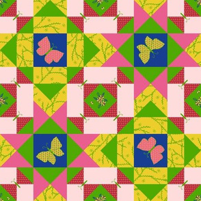 Sweet Cherry Butterfly Storm Quilt (#2)