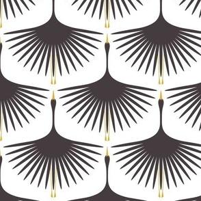 Art Deco Swans - Rustoleum Charcoal